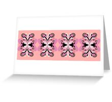 Four Flowers (pink) Greeting Card