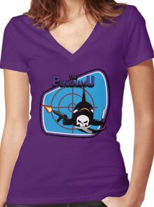 The Punishamu Women's Fitted V-Neck T-Shirt