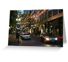 Providence at Night I Greeting Card