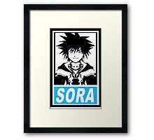 Obey Sora Framed Print