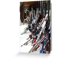 Resting Skis Greeting Card