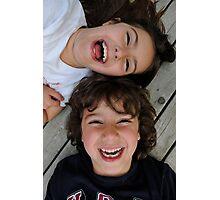 Happy Siblings Photographic Print