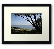 Sea View Over The Solent Framed Print