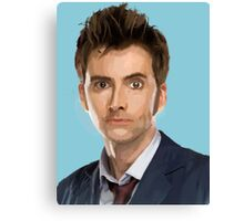 The 10th Doctor Who Canvas Print
