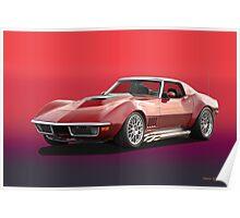 1969 Corvette Stingray Poster