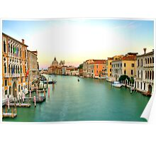 grand canal sunset 2 Poster