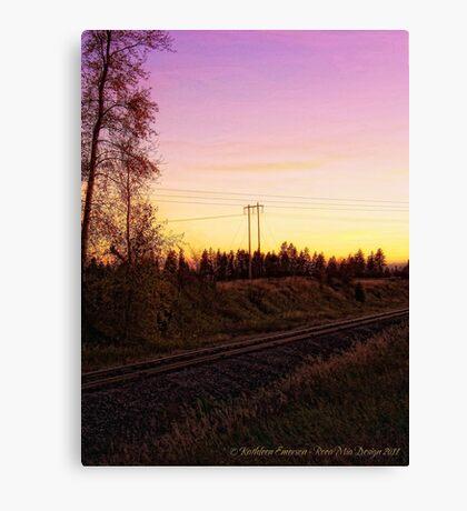 Rural Tracks (Columbia Falls, Montana, USA) Canvas Print