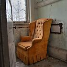 Orange arm chair by DariaGrippo