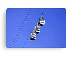 Cable Cars Above Matlock Bath Canvas Print