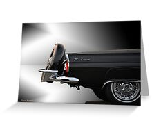 1956 Ford Thunderbird 'The Continental' VS2 Greeting Card