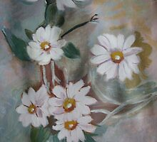 White daisies  by maggie326