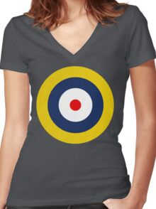 Royal Air Force A1 Insignia Women's Fitted V-Neck T-Shirt