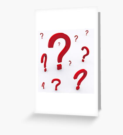 Question Greeting Card
