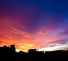 Cityscape Sunset - Jakarta Residential Area by jughead149