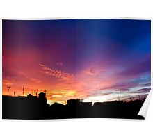 Cityscape Sunset - Jakarta Residential Area Poster