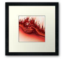 Hands on Fire Framed Print
