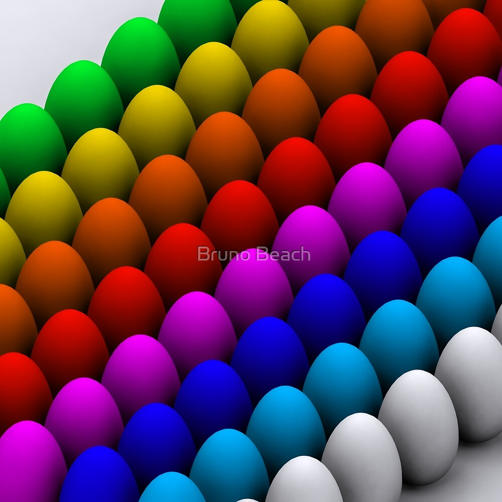 Colorful eggs by Bruno Beach