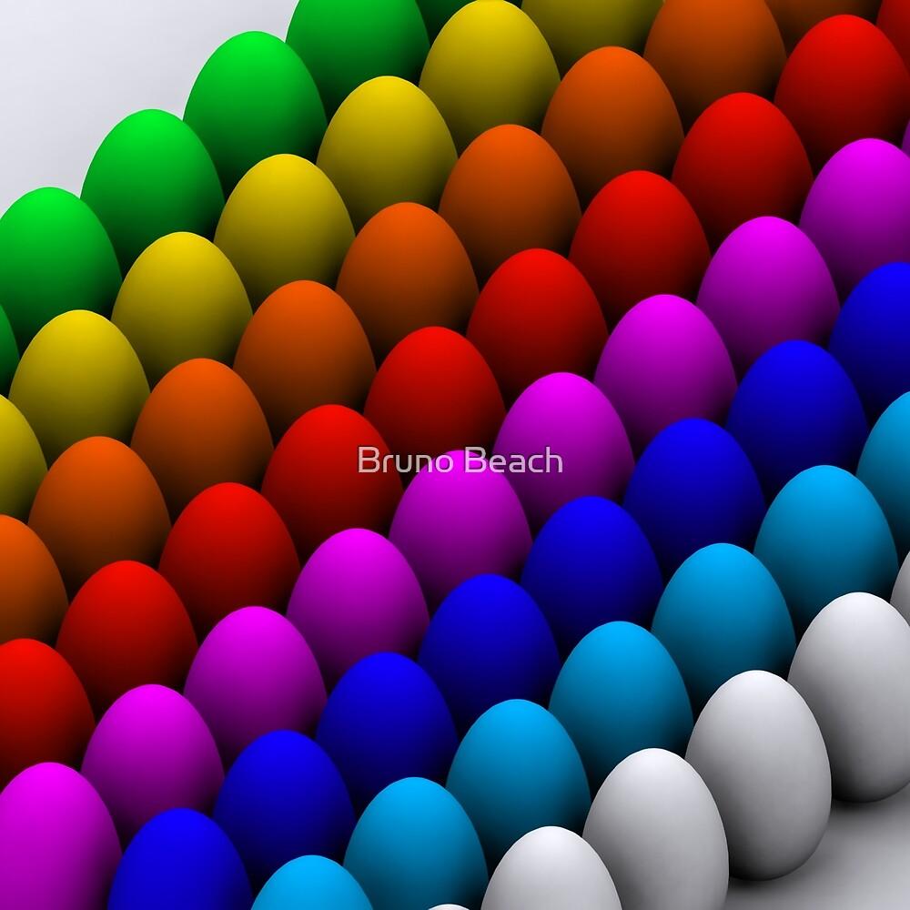 Colorful eggs by Atanas Bozhikov