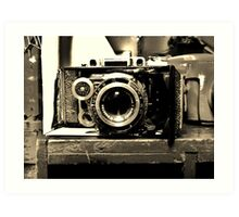 old time camera Art Print