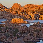 Sundown Watson Lake  by Judy Grant