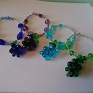 Grape Cluster Wine glass charms by SimpleCharms