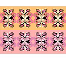 Four + Four Flowers (pink + yellow) Photographic Print