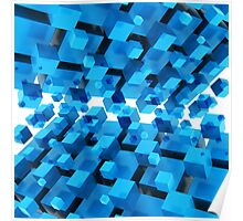 3D Abstract Background Poster