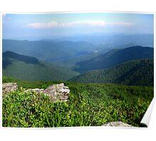 Mountain View - Blue Ridge Mountains Poster