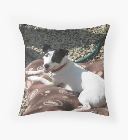 perpetual puppy Throw Pillow