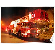 Buffalo Fire Department Ladder 6 Poster