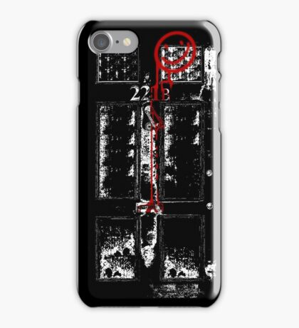Smile! You're at 221B - red, gritty iPhone Case/Skin