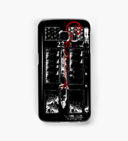 Smile! You're at 221B - red, gritty Samsung Galaxy Case/Skin