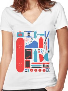 Chose Your Weapons Women's Fitted V-Neck T-Shirt