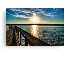 Jordan Lake Pier Canvas Print