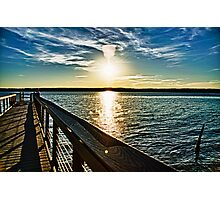 Jordan Lake Pier Photographic Print
