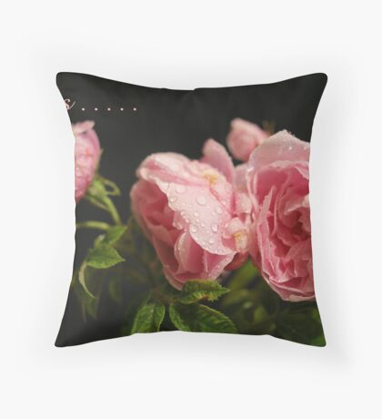 Love Is ..... A Beautiful Bunch Of Roses Throw Pillow