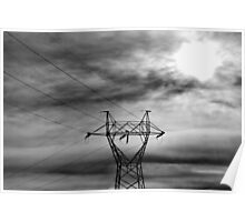 The Sun Fighting the Power Lines Poster