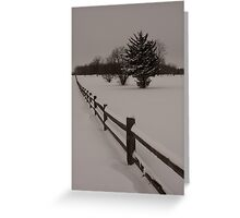 Winter Fence Greeting Card