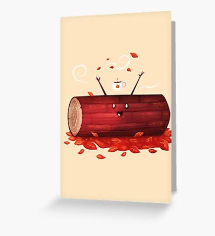 Pumpkin Spice Log(tte) Greeting Card