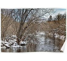 Wintery River Poster