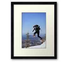 Snowshoeing in Monts Valins, Quebec Framed Print