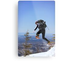 Snowshoeing in Monts Valins, Quebec Metal Print