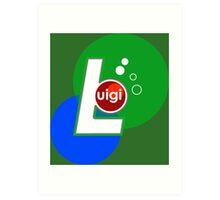 Luigi UP Art Print