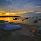 Pine Point, Maine Sunset (2) - August 2010 by Greg Fahey