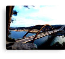 Austin 360 Bridge - Tilt Shifted Canvas Print