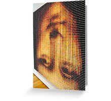 Mona Lisa Thread Spool Art By Jonathan L Green Greeting Card