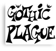 Gothic Plague: Black w/ Bats Canvas Print