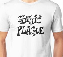 Gothic Plague: Black w/ Bats Unisex T-Shirt