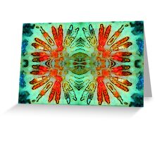 Headdress (Fossil Coral) Greeting Card