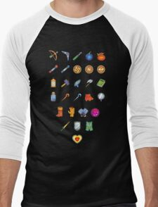 Zelda Inventory Men's Baseball ¾ T-Shirt